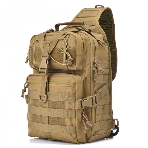 Tactical Sling Pack Laser Cut MOLLE Panels Easy Access Assault Range Bag EDC