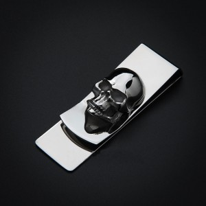 Skull Wallet money clipper billfold
