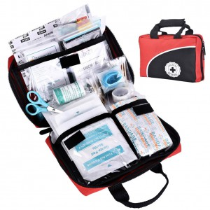 REEBOW TACTICAL GEAR 115 Piece First Aid Kit Medical Supply Survival Gear Bag for Car Home Office Outdoor Camping Hiking Travel Sports Earthquake Emergency Kits …
